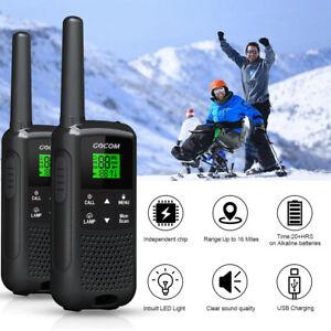 2X Walkie Talkies 22CH Handheld Interphone 2Way Radio 25KM Long Range Talky