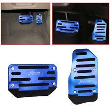 2pcs Blue Non-Slip Automatic Auto Car Gas Brake Foot Pedal Pad Cover Accelerator