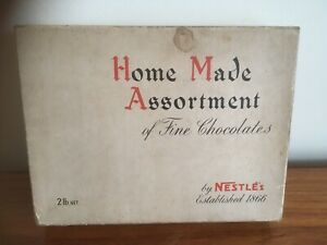 """WWII Nestles """"Home Made Assortment Of Fine Chocolates Box Man Cave -Wartime (B24"""