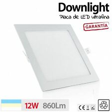Downlight cuadrado 12W ultrafino LED baños pasillos luz techo DESDE ESPA�'A