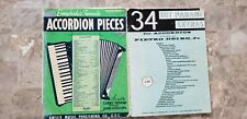 Accordion Song books bundle # 109  2 books  247 pages