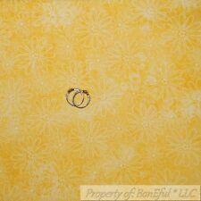BonEful Fabric FQ Cotton Quilt Yellow White Flower Tone Small Dot Calico Blender