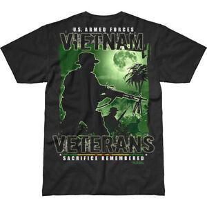 7.62 Design Vietnam Veterans Remembered Battlespace T-Shirt Military Top Black