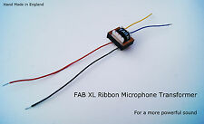 FAB XL MICROFONO A NASTRO Trasformatore-suono mozzafiato-Ideale MXL, RCA, Reslo ecc.