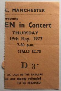 Tom Petty Nils Lofgren Original Concert Ticket Apollo Theatre Manchester 1977