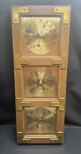 """Vintage Springfield Instrument Thermometer Barometer Humidity Meter 20"""" H"""
