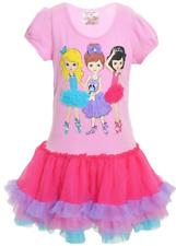 NWT Beautees Girls T-Shirt Tutu Dress - FUCHSIA - 2T