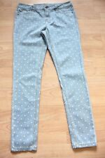 joules  blue spotted super skinny fit Monroe denim  jeans size 16 new