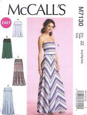 Women's Long & Short Knit Maxi Dress and Skirt Sewing Pattern UNCUT Large XL XXL