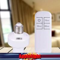 US 1-6Pack Remote Control Light Lamp Socket E26/E27 Screw Wireless Holder Bulb