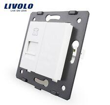 Einsatz Telefon Livolo Phone Socket Weiß VL-C7-1T-11