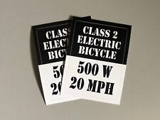 eBike Class 2 or 3 Sticker Decal for Electric Bike, Sur-Ron 2-pack