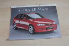 91144) Opel Astra Irmscher Le Mans Prospekt 05/1992