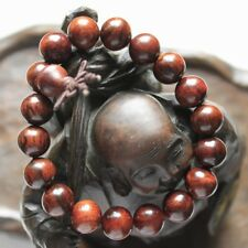 Genuine 100% Natural Hainan Huanghuali Preyer Buddha Beaded Bracelet 12mm 18颗