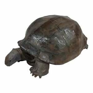 Vintage Paper Mache Galapagos Turtle Sculpture