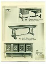 PHOTOGRAPHIE ORIGINALE MEUBLES BMC BUREAU TABLE BUFFET  LOUIS XIII