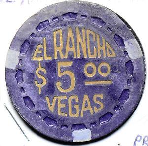 Token  El Rancho casino gaming $5 rare U0034 combine shipping