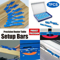 7Pcs Soft Aluminum Precision Router Table Set Up Bars Set Woodworking
