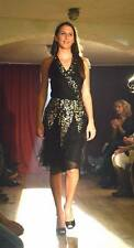 LADIES OASIS BLACK SILK EMBELLISHED PARTY DRESS UK8 EU34 NEW WITH TAGS RRP £75