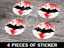 4x Batman Funny Aufkleber Sticker Laptop Skateboard Car 72x96 mm