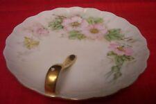 Vintage Japanese Gold Handled Tidbit Tray Dish, excellent, no chips/cracks