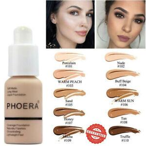 PHOERA Foundation Concealer Makeup Full Coverage Matte Brighten long lasting BH