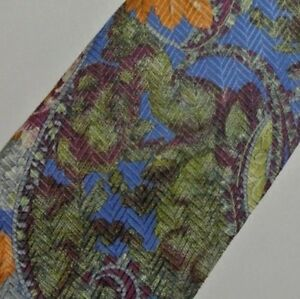 Blue Purple Orange Floral PAL ZILERI Silk Tie