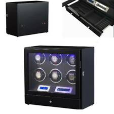 Led Touch Pad Controls w/ Remote Watch Winder Black with Storage Drawer