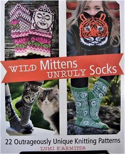 Wild Mittens & Unruly Socks Soft Cover Knitting Book by Lumi Karmitsa
