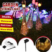 Christmas Party Solar Power 30 LED String Light Garden Patio Yard Landscape Lamp