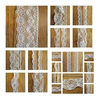 VINTAGE antique White or Ivory LACE RIBBON WEDDING TRIM BRIDAL Shabby dress DIY