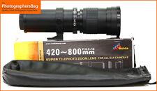 KeldaSuper Telephoto 420-800mm Zoom  Manual Focus M42 Mount Lens  Free UK Post