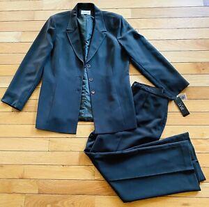 $200 Le Suit Women's Heather Brown Pant Suit, Size 16 NWT