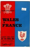 Wales V France 23rd March 1968 Official Match Programme