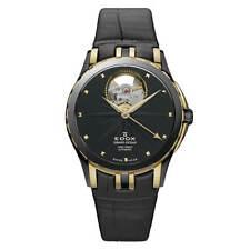 Edox Women's Watch Grand Ocean Open Heart Black Dial Strap 85012 357JN NID