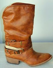 $99  Coconuts Skylar Western Inspired Boot Color: Tan US: 6