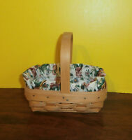 1996 Longaberger Basket American Cancer Society Edition Rose Liner Protector