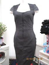 """""""closet blu"""" ladies dark grey fitted  dress size 12"""