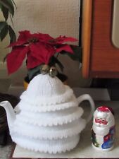 Christmas Tree tea cosy knitting pattern to knit your own festive tea cosy