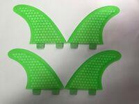 QUAD 4 FIN set HEXCORE surfboard fibreglass THRUSTER FINS (set x 4) FCS