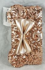 Disney Parks Rose Gold Minnie Mouse Ears Bow iPhone Case Wallet 6+ 6s+ 7+ 8+ NEW