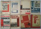 8 Russian Magazines - Constructivism AvantGarde Soviet Historical Design 1930s