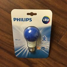Philips Blue Light Bulb LED 8W Autism Awareness Day Light Bulb Parties Lamp Porc