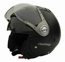 LS2 Helmet - OF545- Matt Black - Dual Visor Open Face Imported Motorcycle Helmet