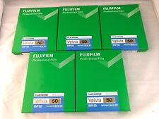 5 Packs FUJIFILM VELVIA 50 4x5 Film 20 Sheet/pack CUTVELVIA50NP4X520 FRESH Film