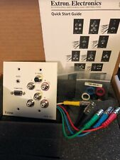 Extron WPB 201 Two-gang Wallplate Computer Composite Video Stereo Audio Coupler