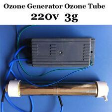 AC 220V tube Ozone generator 3g Ozongenerator Ozongerät DIY WATER Air Cleaner