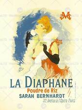 THEATRE LA DIAPHANE CULTURAL BERNHARDT PARIS FRANCE VINTAGE ADVERT POSTER 2144PY