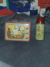 Stunning Vintage 1959 Looney Tunes Tv Lunchbox & Thermos Wow!