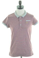 JACK WILLS Womens Polo Shirt Size 10 Small Grey Stripes Cotton